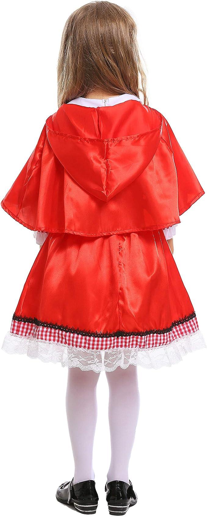 LOLANTA Disfraz de Caperucita Roja para niñas Disfraz de Cosplay ...