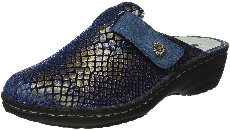 Rohde Cremona, Zuecos para Mujer 37 EU|Azul (Blau 50)