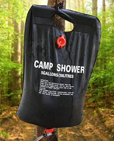 Nrpfell 10L Camping Hiking Solar Heated Camp Shower Bag Outdoor Shower Water Bag