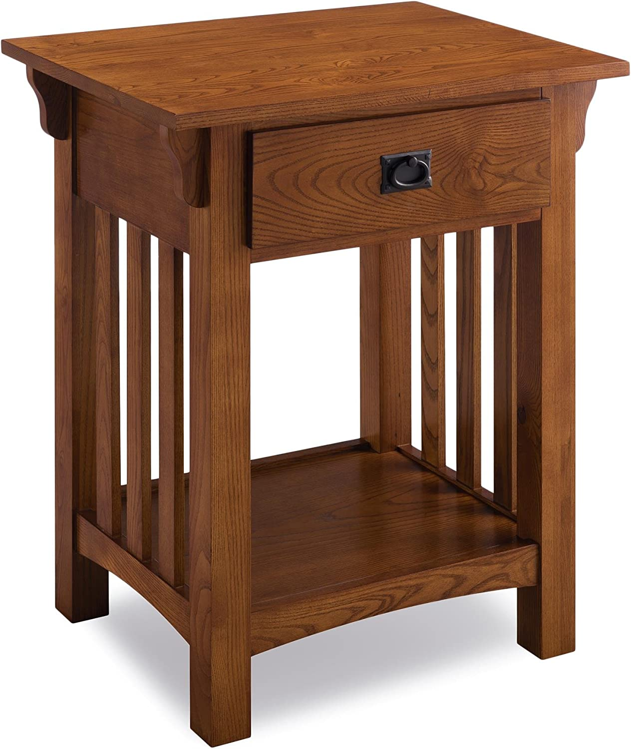 Leick Furniture KD Furnishings Wooden Contemporary Side Table with Drawer