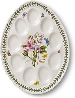 Portmeirion Botanic Garden Devilled Egg Dish 12-Inch  sc 1 st  Amazon.com & Amazon.com: Corning Ware Cornflower Blue Pie Serving Plate ( 9