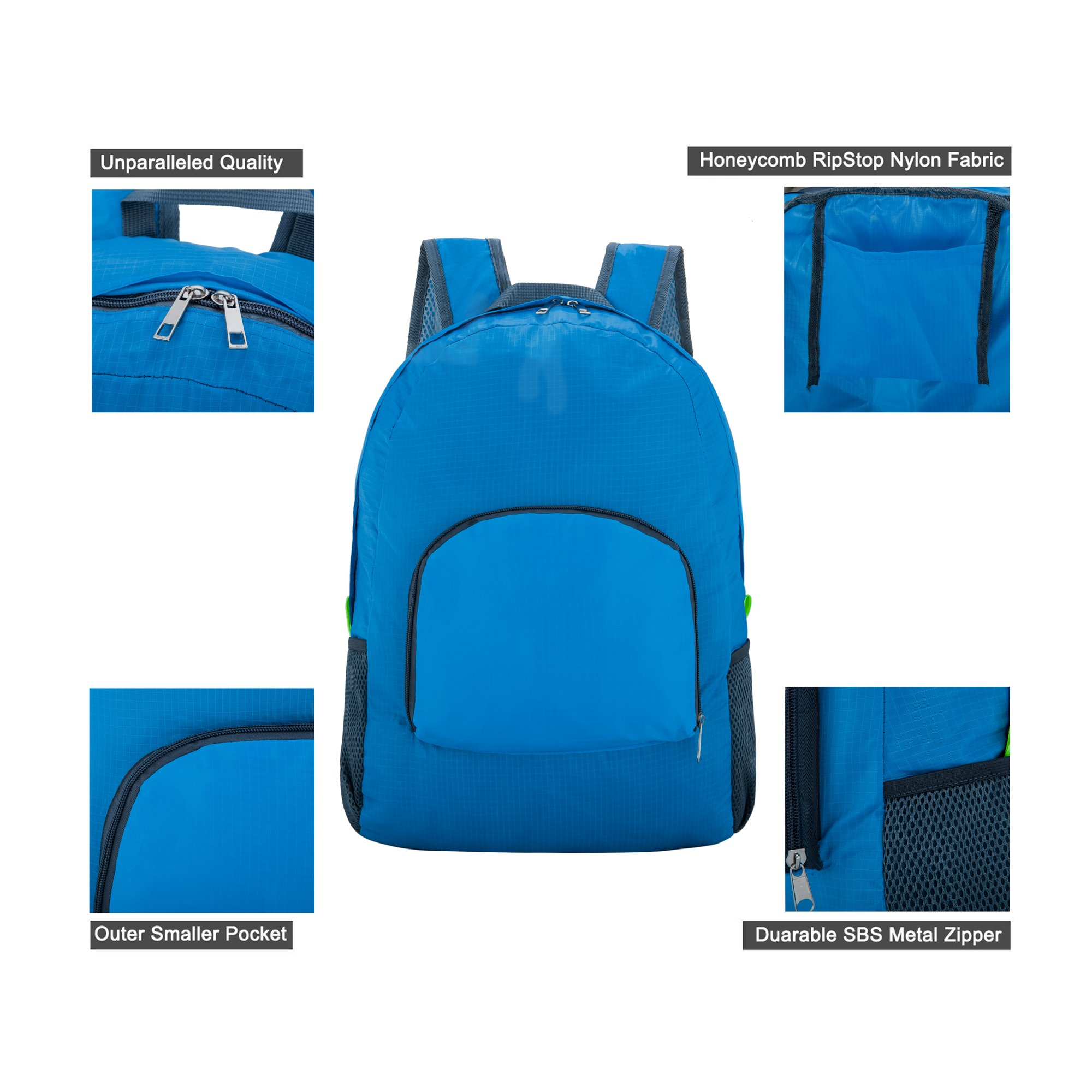 Travel Backpack, Foldable & ultralight Water Resistant Packable Backpack Hiking Daypack