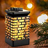 ZONGOOL Solar Lights Outdoor Lantern, USB Rechargeable Solar Garden Lights Dancing Flame Waterproof Hanging Lantern…
