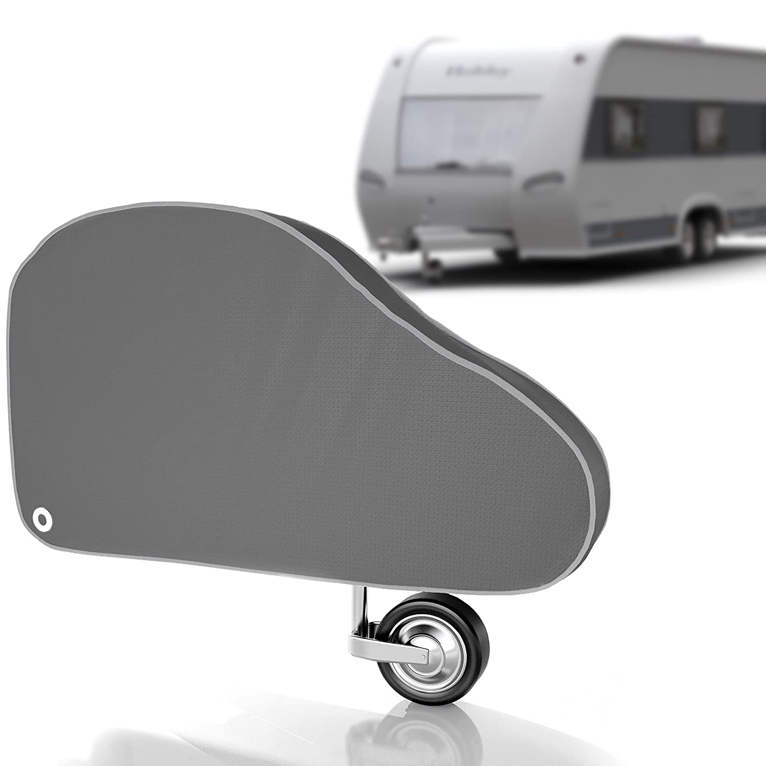 Contifix universal drawbar cover for caravans and trailer, winter-proof and innovative 4-layer composite material