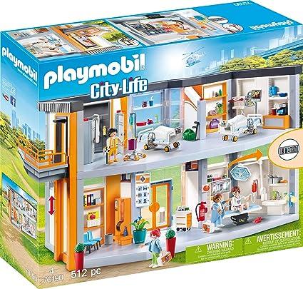 Amazon.com: Playmobil City Life Playmobil Hospital grande ...