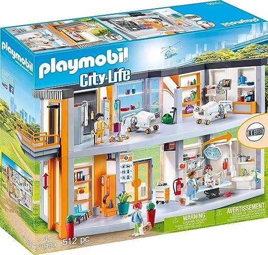 Playmobil- City Life: Gran Hospital Set Juguetes, Multicolor, Talla Única (70190): Amazon.es: Juguetes y juegos