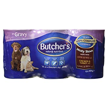 Butcher S Meaty Stews Chunks In Gravy 6 X 400g Amazon Co Uk Prime