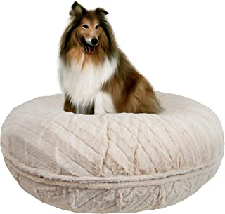 product image for Bessie and Barnie Signature Natural Beauty Extra Plush Faux Fur Bagel Pet / Dog Bed (Multiple Sizes)