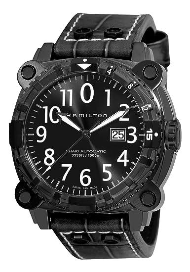 Hamilton H78575393 - Reloj de caballero automático, correa de piel color negro: Amazon.es: Relojes