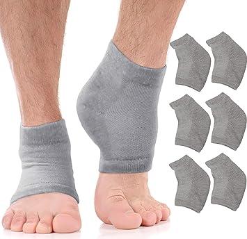 Amazon.com: Moisturizing Socks Cracked Heel Treatment - Treat Dry Feet &  Heels Fast. Pain Relief from Cracking Foot Skin with Aloe Moisturizer  Lotion Infused Gel Heel Socks. Pedicure for Both Women &