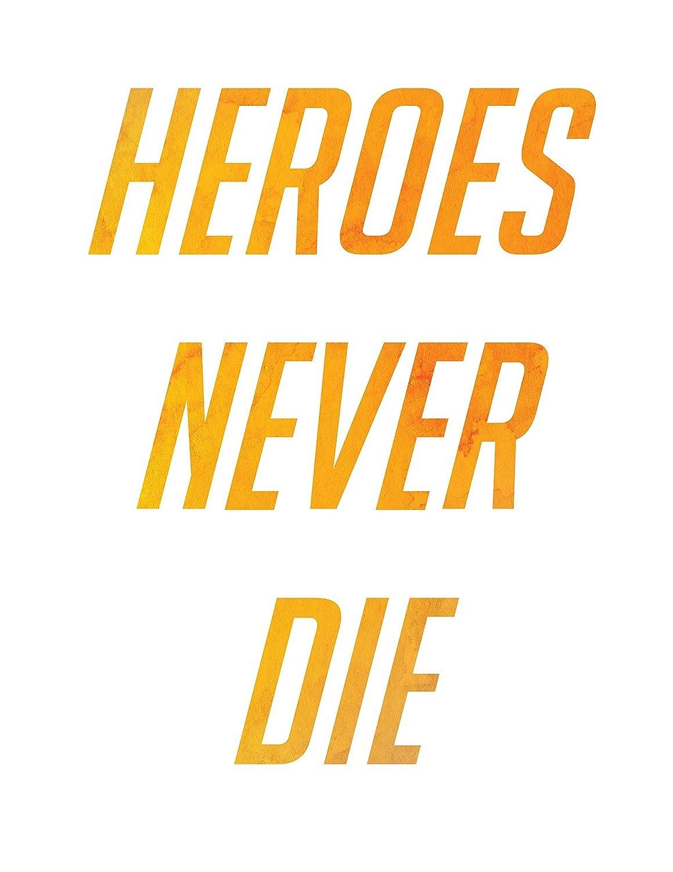 Amazon.com: Overwatch Poster Mercy Heroes Never Die | Watercolor ...