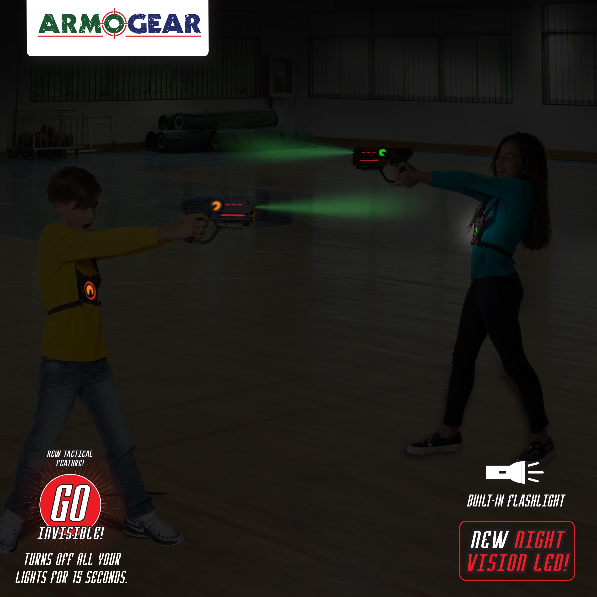 ArmoGear Infrared Laser Tag Guns and Vests - Laser Battle Game Pack Set of 2 - Infrared 0.9mW by ArmoGear (Image #5)