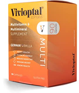 Vivioptal Multi 90 Capsules - Multivitamin & Multimineral Supplement - Lipotropic Substances & Trace Elements
