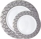 Posh Setting Imperial Collection Combo Pack China Look White/Silver Plastic Plates (Includes 20  sc 1 st  Amazon.com & Amazon.com: Posh Setting Premium Collection Combo Pack China Look ...