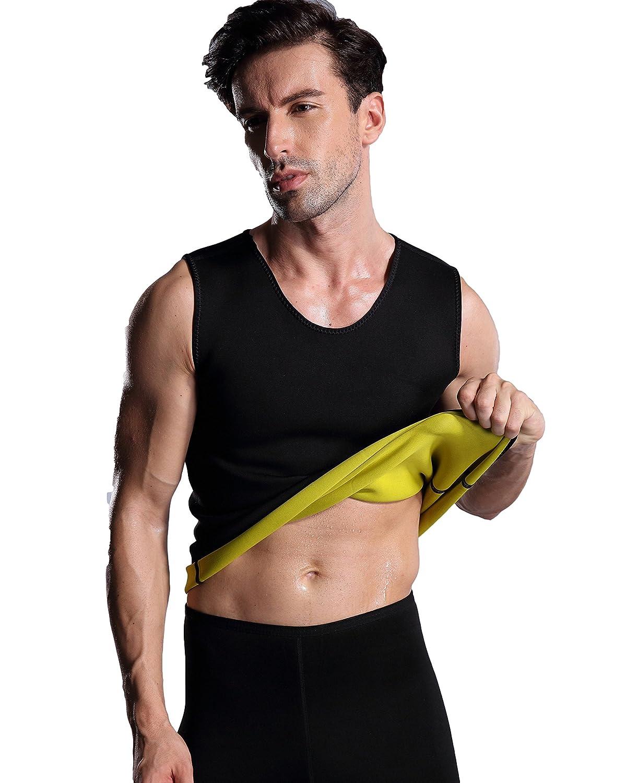 Bakerdani Hot Mens Neoprene Sudatory Weight Loss Fat Burning Slimming Tank Top Vest
