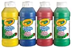 Crayola 4-Count of 237 ml Washable Paint, School, Craft, Painting and Art Supplies, Kids, Ages 3,4, 5, 6 and Up, Holiday...