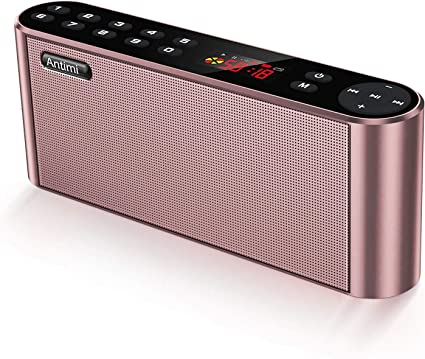 Antimi Bluetooth Speaker Fm Radio Player Mp3 Player Stereo Portable Wireless Speaker Drivers With Hd Sound Built In Microphone High Definition Audio And Enhanced Bass Pink Electronics