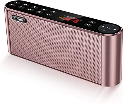 Amazon.com: Antimi - Altavoces Bluetooth con radio FM ...