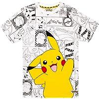 Pokemon Panels Boy's T-Shirt (13-14 Years) Grey
