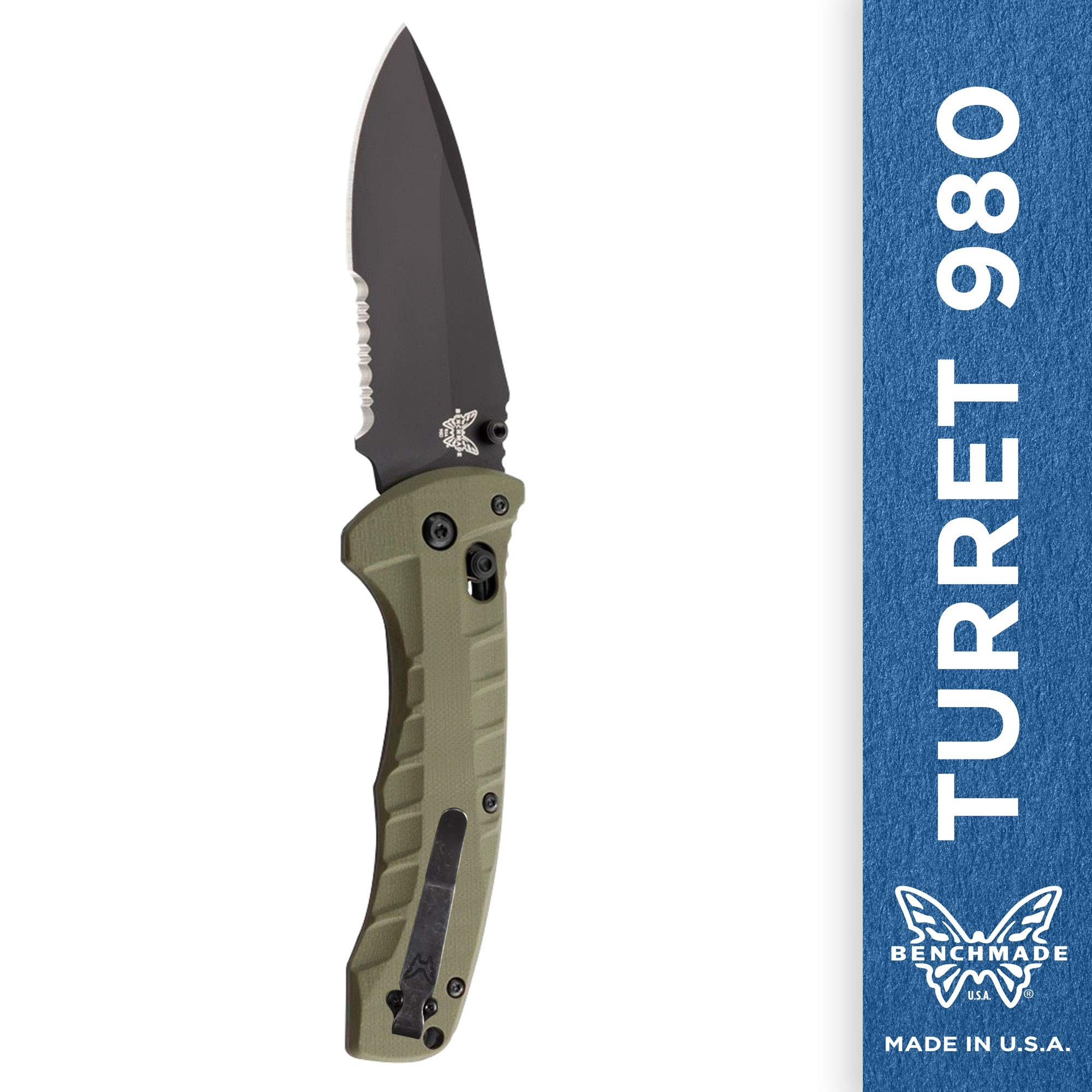 Benchmade - Turret, Serrated, Olive Drab