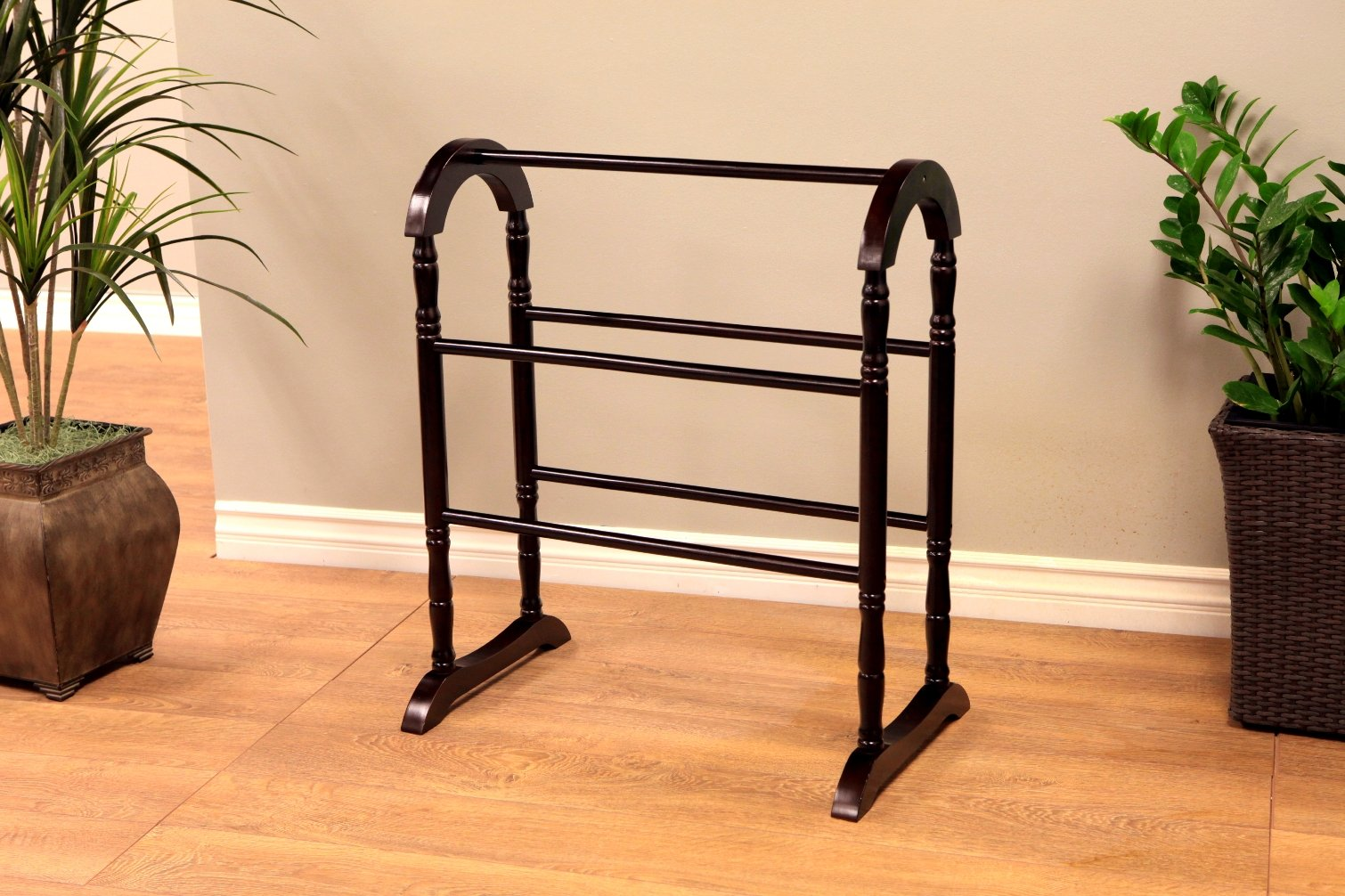Frenchi Home Furnishing Quilt Rack, Espresso by Frenchi Home Furnishing (Image #3)