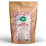 Organic Hibiscus Tea 100g By The Natural Health Market • Soil Association Certified Organic • Loose Leaf Dried Hibiscus Flower Herbal Tea • Made From 100% Cut Premium Quality Hibiscus Flowers