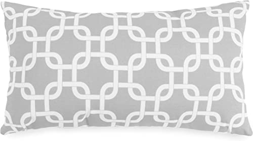 Majestic Home Goods Gray Links Indoor Outdoor Small Throw Pillow 20 L x 5 W x 12 H
