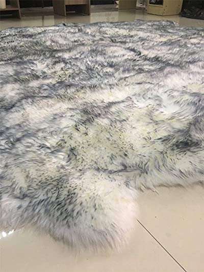 Deluxe Super Soft Australian Fur Rug Sheepskin Area Rugs Silky Shag Rug Fluffy Carpet Rugs Floor Rugs Decorative