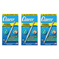 Clinere® Ear Cleaners, 10 Count, (Pack of 3) Earwax Remover Tool Safely and Gently Cleaning Ear Canal at Home, Ear Wax…