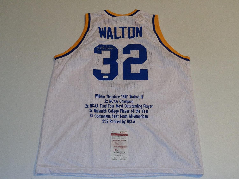 f59e1d8c9 Amazon.com  Autographed Bill Walton Jersey - UCLA Bruins white STAT   W954374 - JSA Certified - Autographed College Jerseys  Sports Collectibles