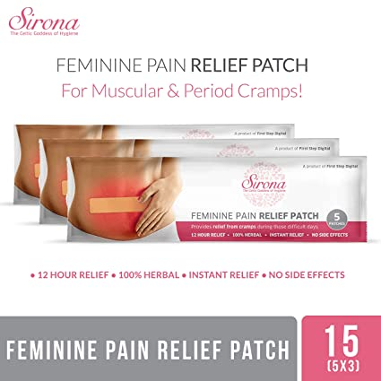 243804fc2376c Buy Sirona Feminine Pain Relief Patches - 15 Patches (3 Pack - 5 ...