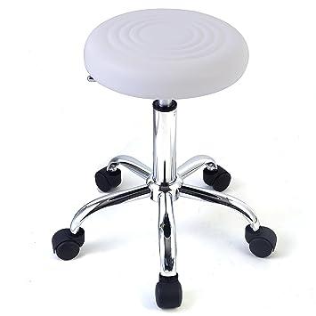 Rollhocker Drehstuhl Kosmetik Hocker Arbeitsstuhl Drehhocker höhenverstellbar