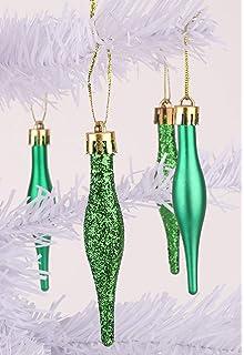 8 x 60 mm vert émeraude Paillettes en forme de cœur arbre de Noël boules BA23