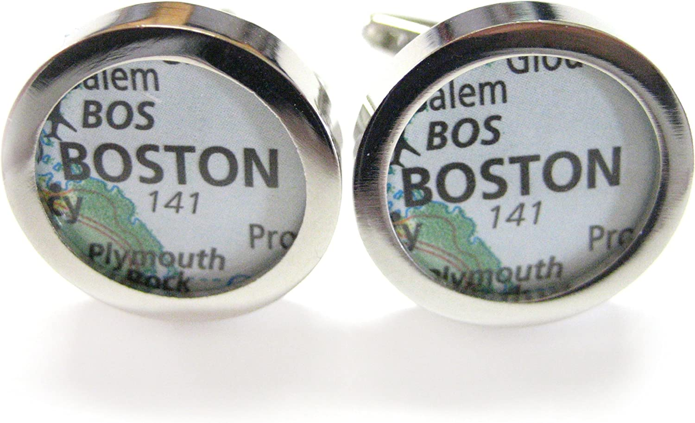 Boston Massachusetts Map Cufflinks