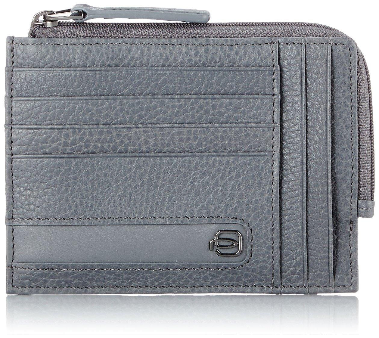 Piquadro Ili Porta carte di credito, 12 cm, Blu PU1243S86/BLU