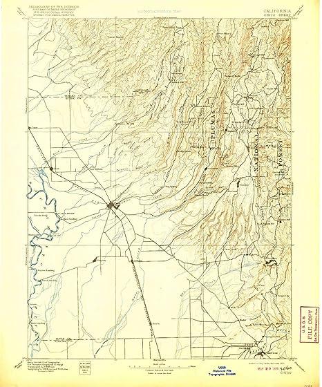Amazon.com : YellowMaps Chico CA topo map, 1:125000 Scale ... on