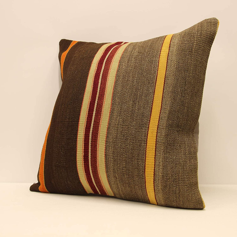Throw pillow cover 20x20 in 50x50 cm Sofa cushion Turkish kilim pillow Vintage red pillow Boho Big Pillow Home Decor D-1008