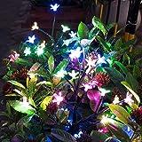 Solar Garden Decorative Lights Outdoor,Beautiful LED Solar Powered Fairy Landscape Tree Lights,Two Mode Flower Lights…