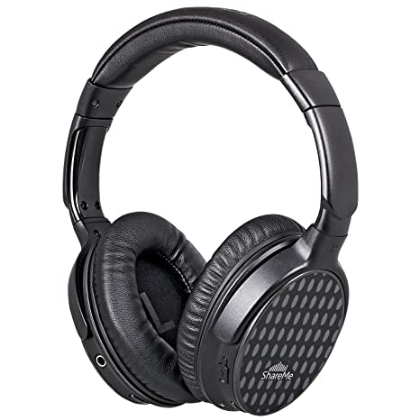 Mixcder Over Ear Headphones, Upgraded ShareMe Wireless/Wired Headsets with Microphone , Music Streaming Stereo Sound Bluetooth Headphone for iPhone 7/7 plus/6s/6, iPad, iPod, Samsung,PC,TV <span at amazon