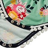 Leapparel Little Kids Summer Pompom Romper Pink