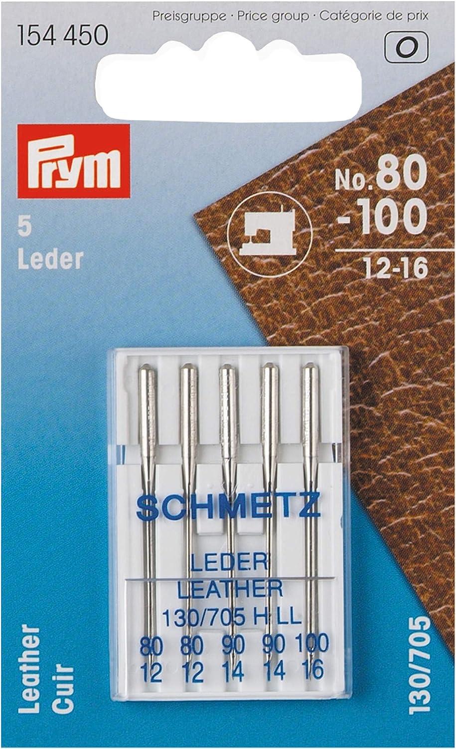 Prym Schmetz 154450-Agujas para máquina de coser (piel, 130/705 ...