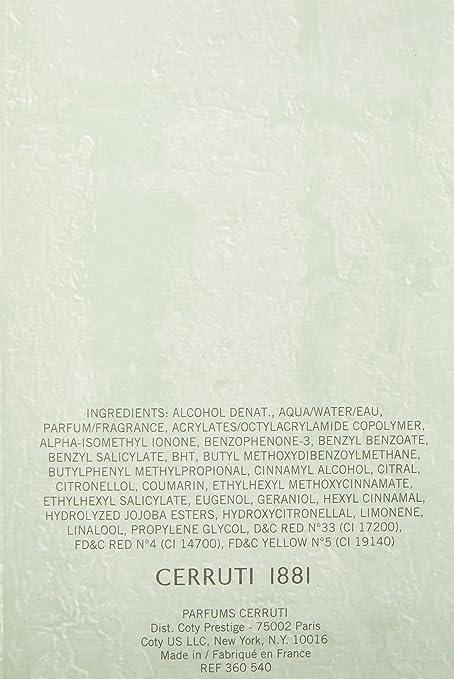Nino Cerruti - 1881 Pour Homme - Eau de Toilette - 100 ml: Amazon.es: Belleza