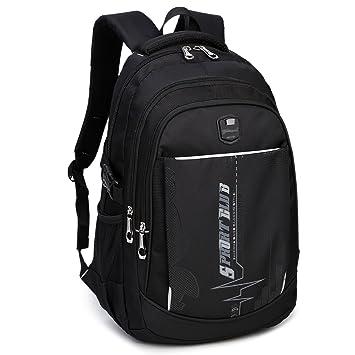 d6567360d3a7c DCCN Rucksack 35L Multifunktionale Daypack Schulrucksack Daypacks  Schultasche Schwarz