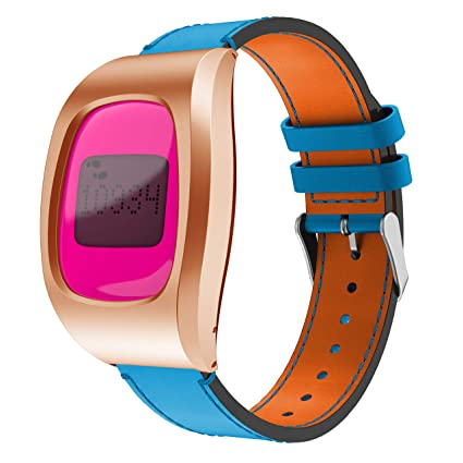 Terrific Gelishi Compatible Bands For Fitbit Zip Genuine Leather Replacement Strap Wristbands With Stainless Metal Case For Fitbit Zip Watch Blue No Creativecarmelina Interior Chair Design Creativecarmelinacom