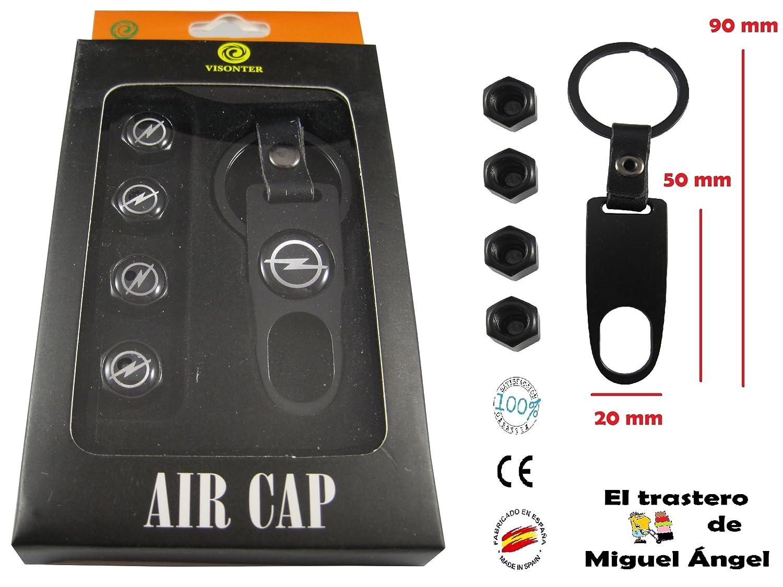 ETMA Llavero Metal y Cuero + valvulas Compatible con Opel ...