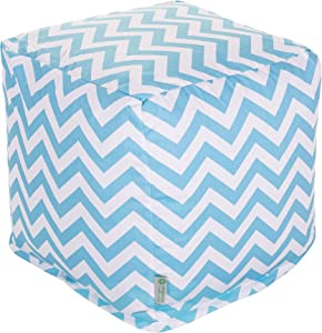Majestic Home Goods Blue Chevron Small Cube