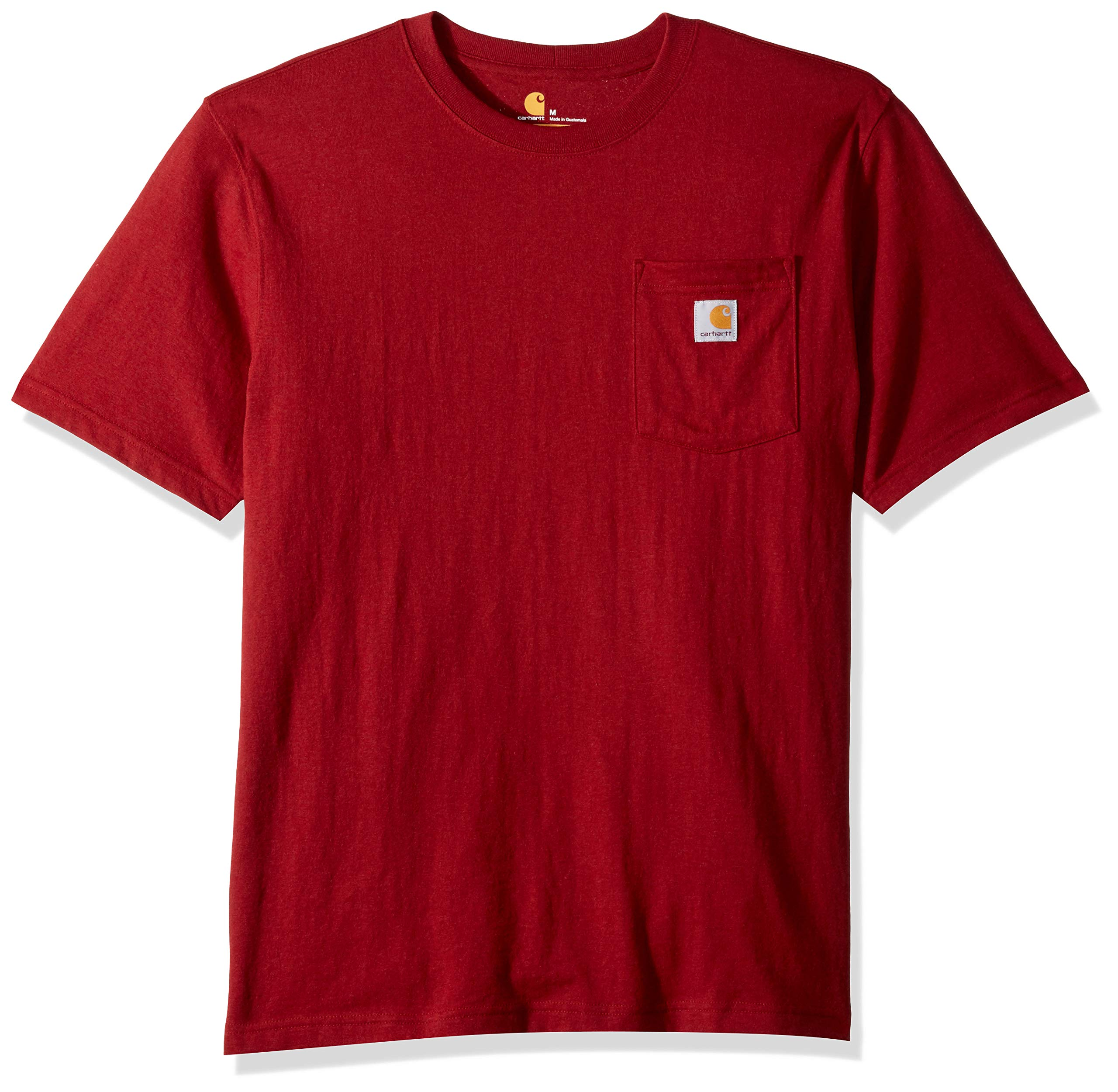 Carhartt Men's K87 Workwear Pocket Short Sleeve T-Shirt (Regular and Big & Tall Sizes), Sun-Dried tomato heather, X-Large by Carhartt