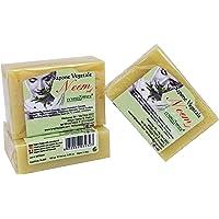 Neem oliezeep - 100% natuurlijke en organische zeep met schimmelwerende eigenschappen - hydraterende zeep voor gevoelige…