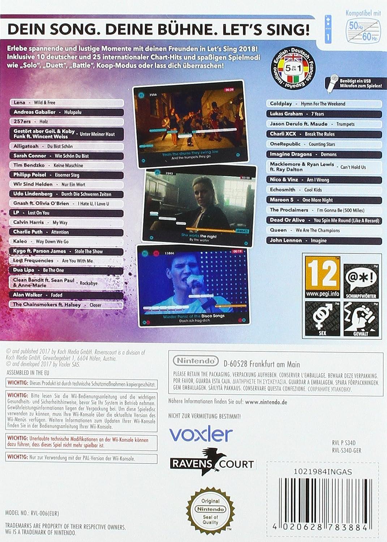 Let's Sing 2018 mit Deutschen Hits [Wii + Wii U]: Amazon de