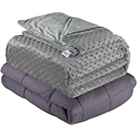 """Quility Premium Kids Weighted Blanket & Removable Cover   05 lbs   36""""x48 a Child Between 30-70 lbs   Premium Glass…"""